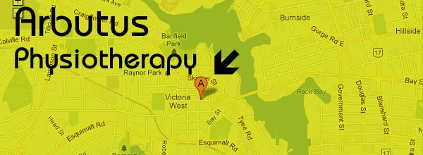 Location of Arbutus Physiotherapy