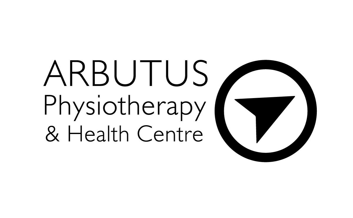 Black and white logo: Arbutus Physiotherapy and Health Centre