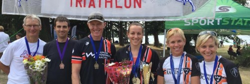 An injury free team is a healthy team: triathlon finish line.