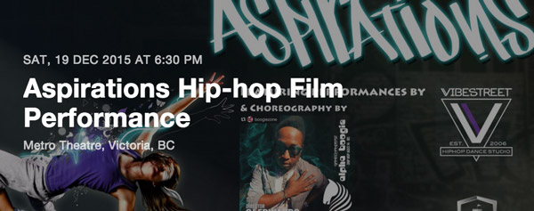 December 19th, Aspirations Hip-hop film performance