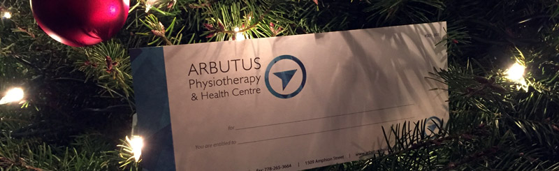 Arbutus Physiotherapy and Health Centre gift Certificate (in a tree)