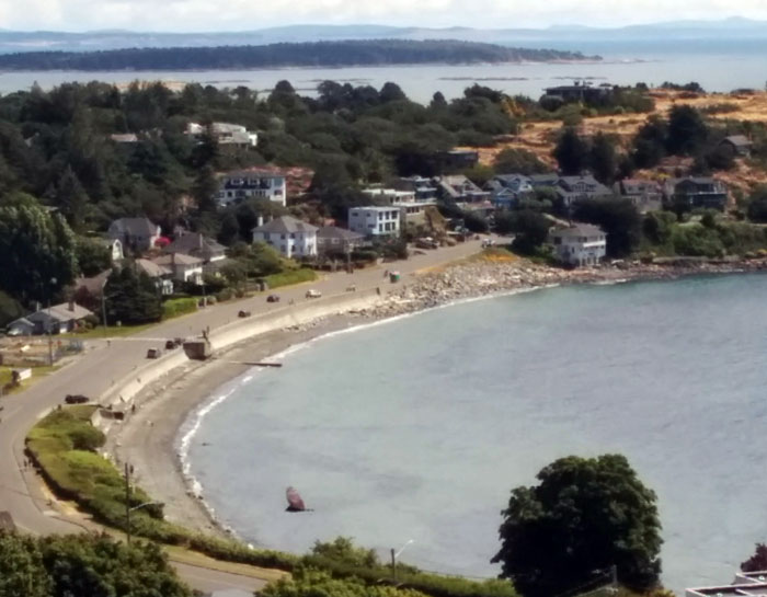 The view from Gonzales Hill Oak Bay