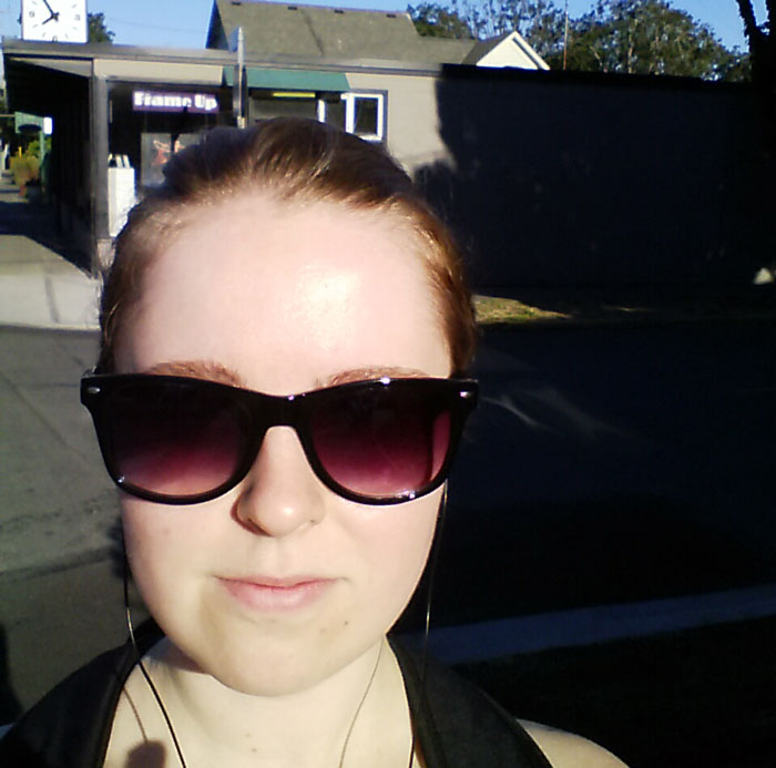 Olivia talking a selfie in Oak Bay