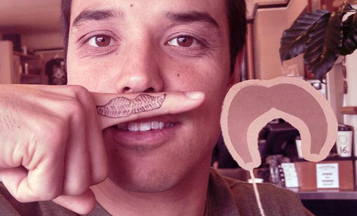 Mike's moustache