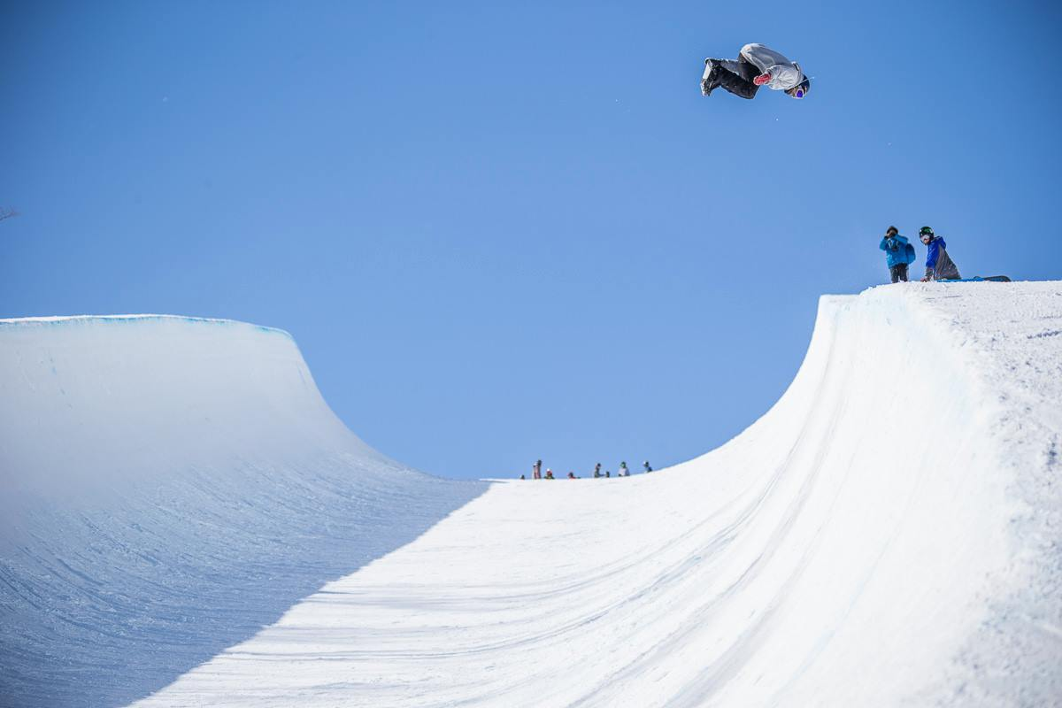 Mike Gotuaco catches serious air on the half pipe