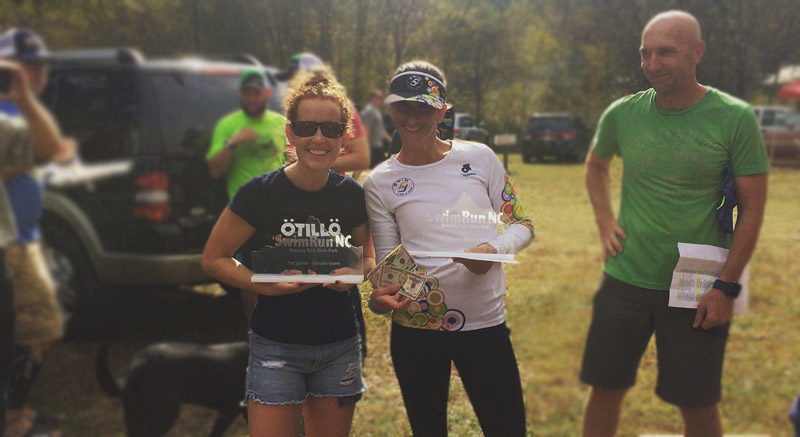 First place finish for Chadwick and Becerra at the SwimRun in North Carolina