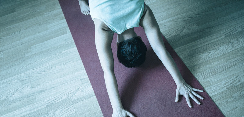 Yoga, downward dog pose especially, is a great way to counteract sitting.