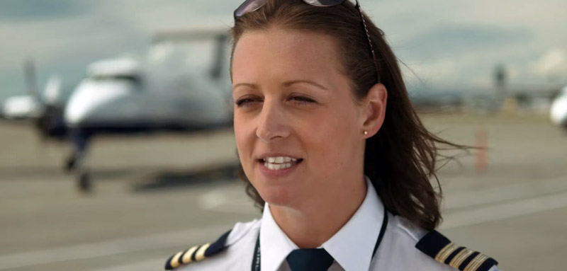 Brittany Frey, pilot, tells us about recovering from a broken leg.