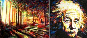 Paintings by John Bramblitt