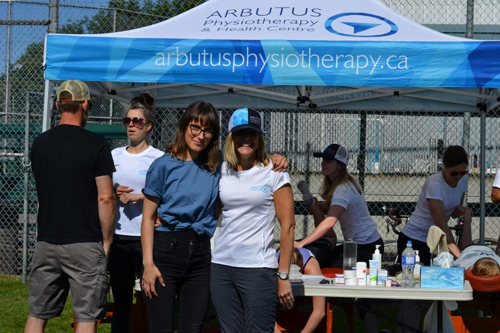 Arbutus Physiotherapy Team with Carissa from VSAC.