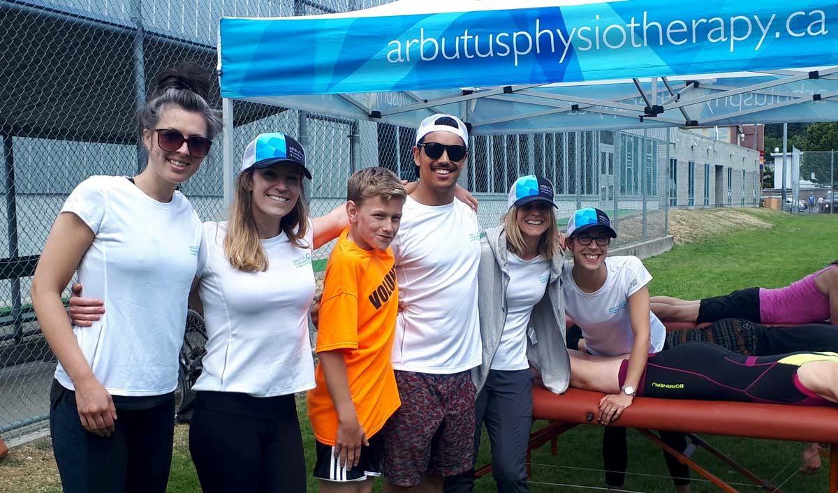 Arbutus Physio team on deck at the Tri of Compassion.