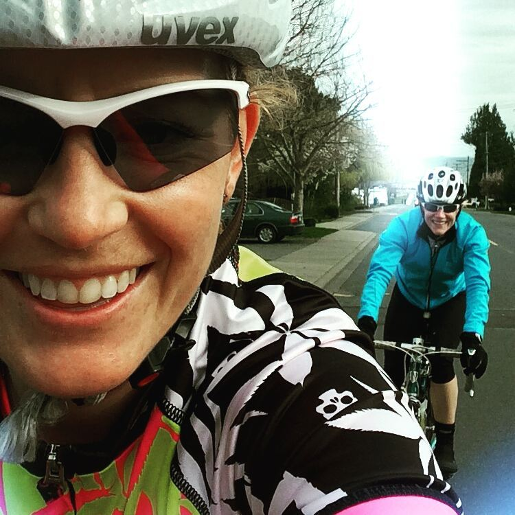Training Ride with Sophia and Sandy