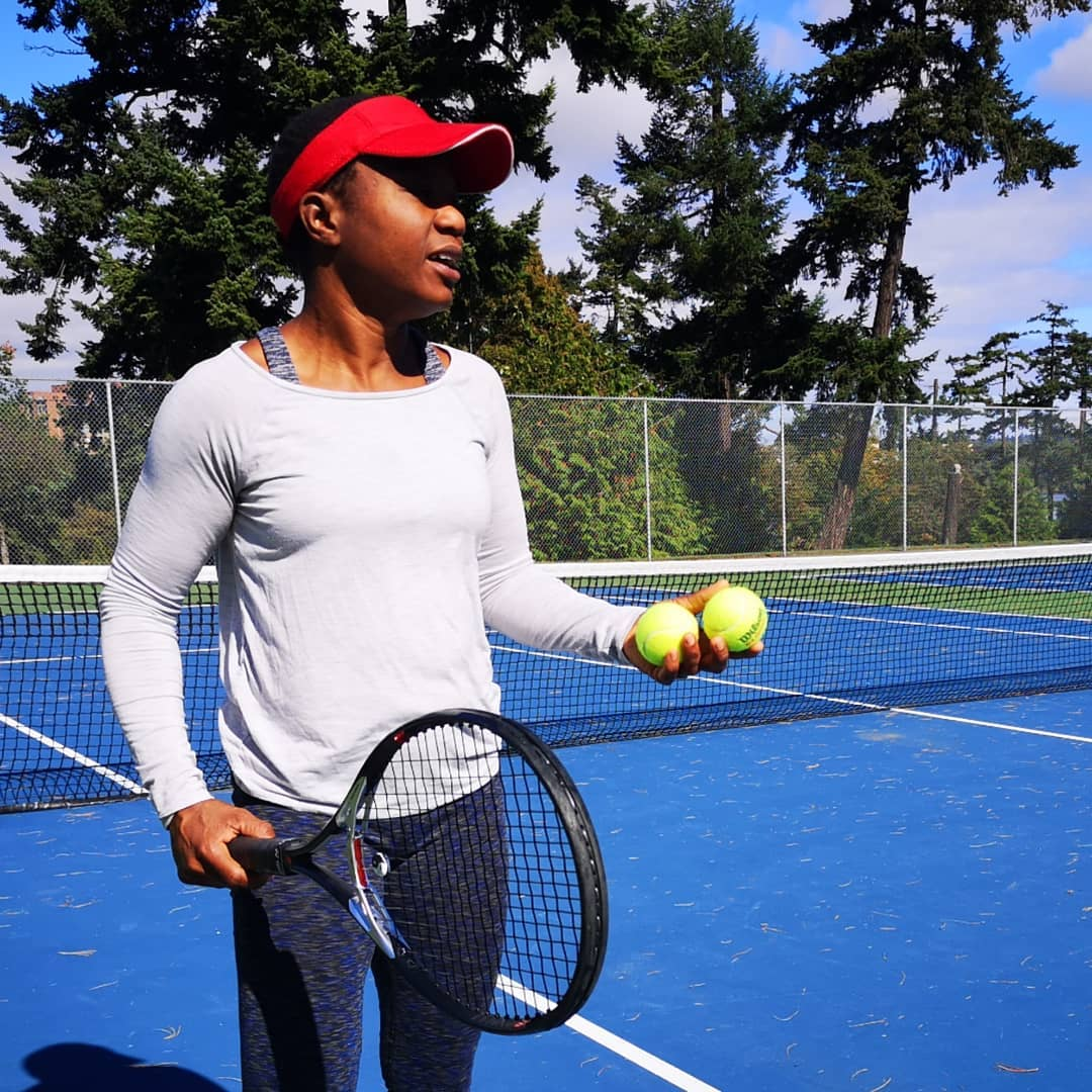 Hannah DaSilva-Taylor on the tennis court in VicWest.