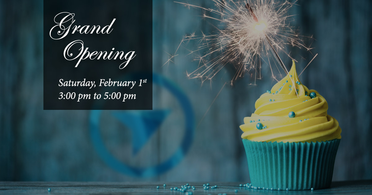 Join us to celebrate our grand opening on Saturday, February 1st