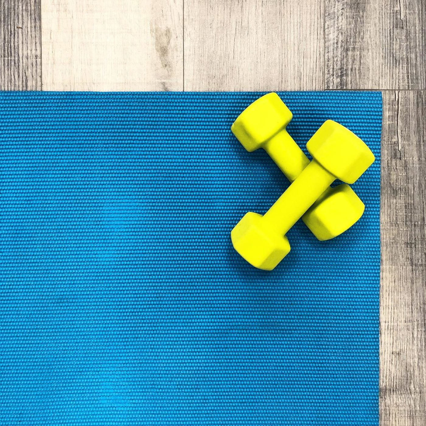 Yoga, pilates, calisthenics, walking and running are great ways to keep moving with very minimal equipment